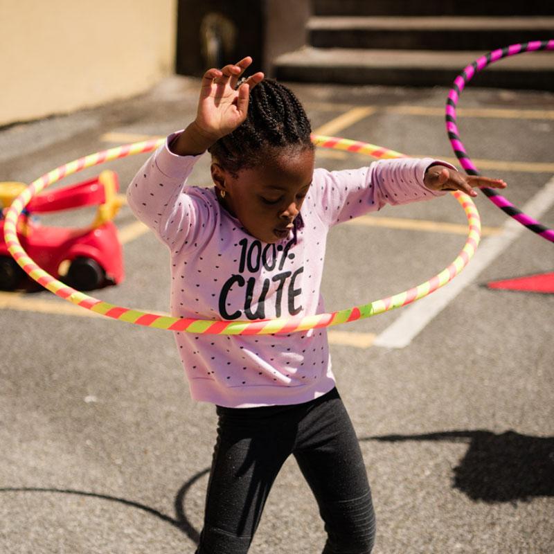 Little Girl With a Hoola Hop