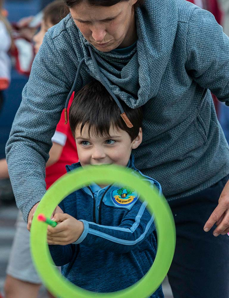 Boy at Family Circus Event